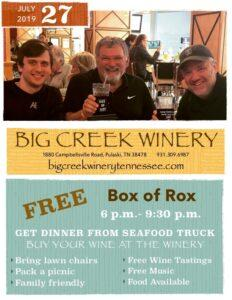 Box of Rox for A Grape Event July 27, 2019